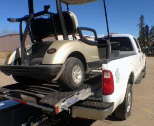 Braaamp - golf cart loaded